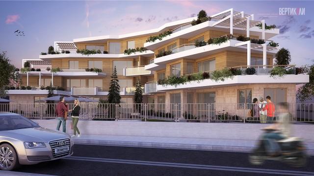 Архитектурен Проект на многофамилна жилищна сграда в гр. Созопол м.Каваци - Проектирано от ВЕРТИКАЛИ - Архитектурно и интериорно проектиране