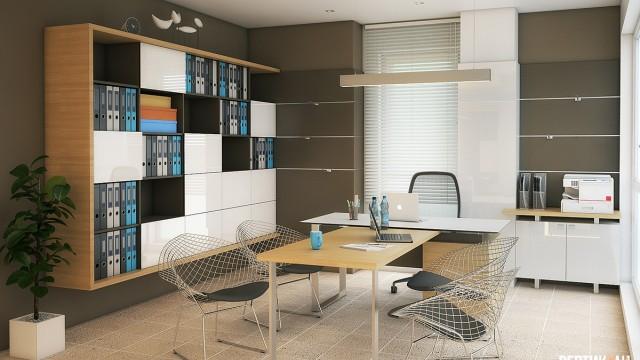 Интериорен проект на офис в гр.Бургас - Проектирано от ВЕРТИКАЛИ - Архитектурно и интериорно проектиране