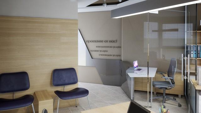 Интериорен проект на офис в гр.Бургас