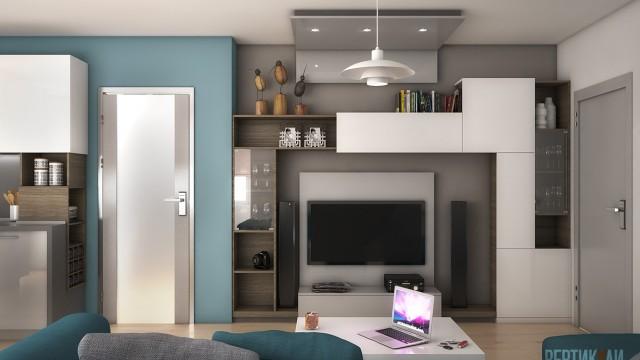 Интериорен проект на апартамент - Проектирано от ВЕРТИКАЛИ - Архитектурно и интериорно проектиране