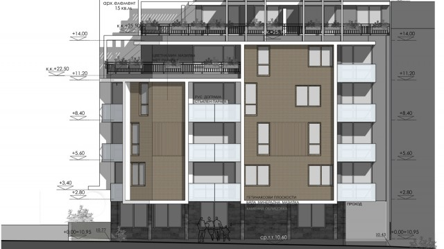 Architectural project for residential building in Burgas, Bulgaria