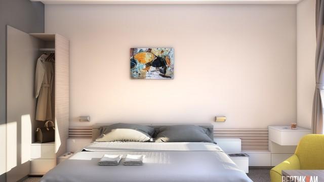 """Интериорен проект на хотелска стая """"Парк Хотел Витоша"""", гр. София"""