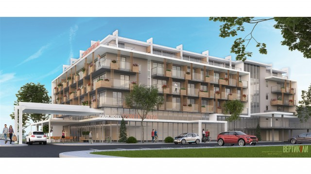 Аrchitectural project - Hotel Continental, Sunny Beach, Burgas - reconstruction, extension