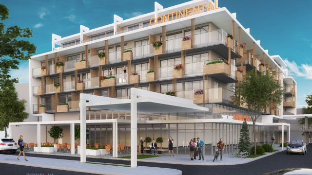 Аrchitectural project - Hotel Continental, Sunny Beach, Burgas - reconstruction, extension - Проектирано от VERTIKALI - Architectural and interior design