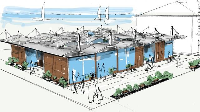 Архитектурен проект - търговски павилиони за сувенири, гр. Поморие