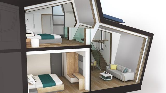 Архитектурен проект на ваканционен комплекс – хижа (реконструкция) и новопроектирани къщи за гости