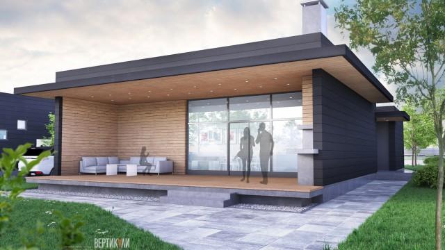 Архитектурен проект на четири еднофамилни жилищни сгради в село Маринка, oбщина Бургас - Проектирано от ВЕРТИКАЛИ - Архитектурно и интериорно проектиране