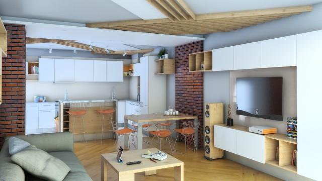 Интериорен проект на апартамент в град Бургас - Проектирано от ВЕРТИКАЛИ - Архитектурно и интериорно проектиране