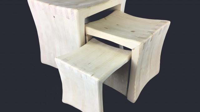 Три табуретки Mood Wood Design - Проектирано от ВЕРТИКАЛИ - Архитектурно и интериорно проектиране