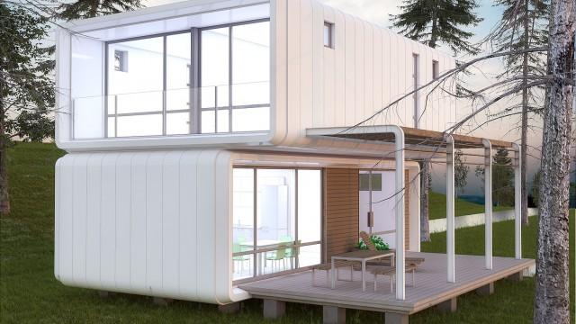Идеен архитектурен проект на двуетажна еднофамилна жилищна сграда от сглобяеми стоманобетонови елементи