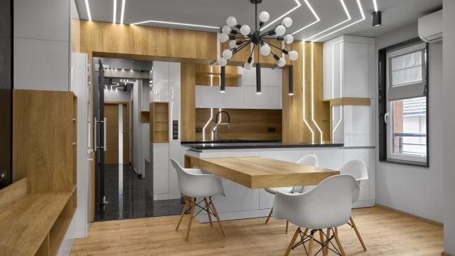 Интериорен проект на тристаен апартамент в гр. Бургас, кв. Сарафово - Проектирано от ВЕРТИКАЛИ - Архитектурно и интериорно проектиране