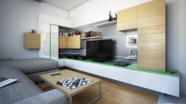 Интериорен проект на апартамент в гр. Несебър - Проектирано от ВЕРТИКАЛИ - Архитектурно и интериорно проектиране