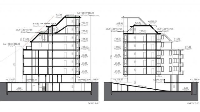 Conceptual architectural design of a residential building in Sofia, Bulgaria