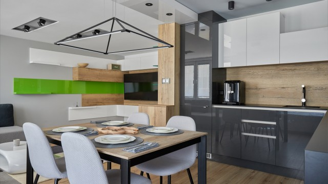 Интериорен проект на апартамент в град Бургас, Лазур - Проектирано от ВЕРТИКАЛИ - Архитектурно и интериорно проектиране