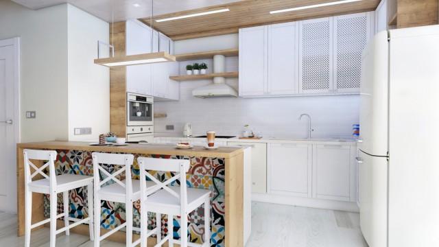 Интериор на апртамент в гр. Бургас, ФЛОРА ПАНОРАМА - Проектирано от ВЕРТИКАЛИ - Архитектурно и интериорно проектиране