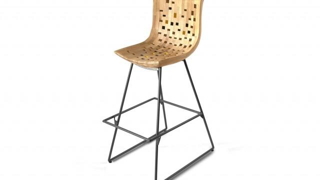 Бар стол - Mood Wood Design  - Проектирано от ВЕРТИКАЛИ - Архитектурно и интериорно проектиране