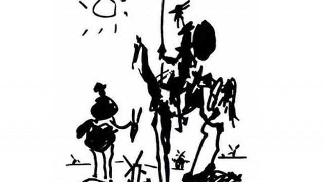 "ПЛАСТИЧЕН ПРОЕКТ по скицата ""Don Quixote"" на Пабло Пикасо"