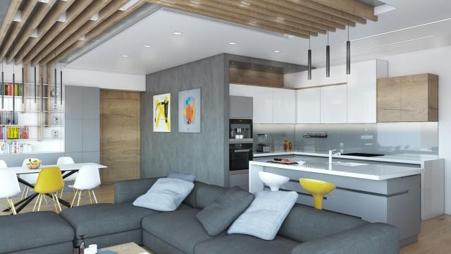 Интериорен проект на апартамент в град Бургас, ФЛОРА ПАНОРАМА - Проектирано от ВЕРТИКАЛИ - Архитектурно и интериорно проектиране