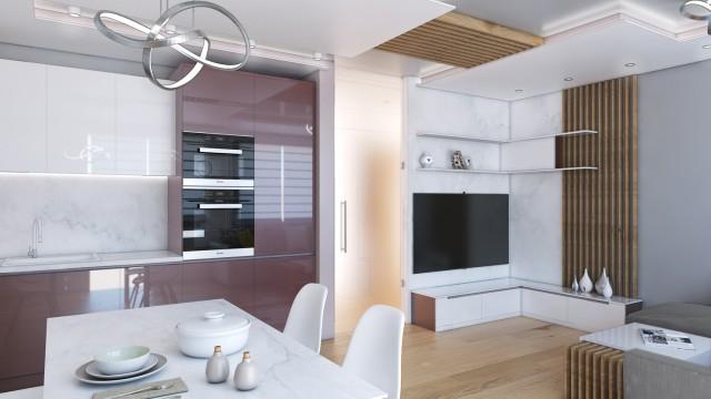 Интериорен проект на апартамент в град София - Проектирано от ВЕРТИКАЛИ - Архитектурно и интериорно проектиране