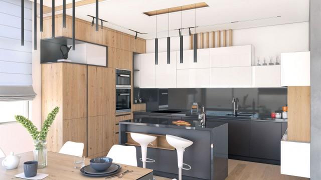 Интериорен и архитектурен проект на едноетажна къща - Проектирано от ВЕРТИКАЛИ - Архитектурно и интериорно проектиране