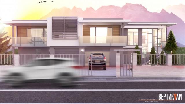 Еднофамилна жилищна сграда град Сопот - Проектирано от ВЕРТИКАЛИ - Архитектурно и интериорно проектиране